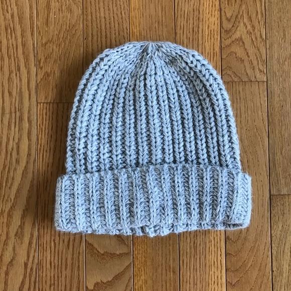938eb85469532 Grey knit beanie winter hat